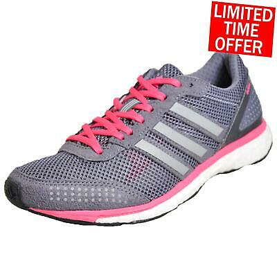 huge selection of 898c8 d1801 ADIDAS ADIZERO ADIOS Boost 2 Women's Premium Running Shoes Fitness Trainers  Grey