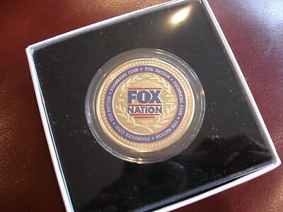 """Rare FOX NATION """"FOUNDERS"""" COIN Mint & Unused IN BOX Only One on Ebay"""