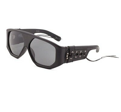 c7034a3e44a0 NEW Jeremy Scott x Linda Farrow Black Leather Laced Side Corset Sunglasses