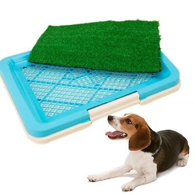 Puppy Potty Trainer Indoor Training Toilet Pet Dog Grass Pad Pee Mat Patch QA