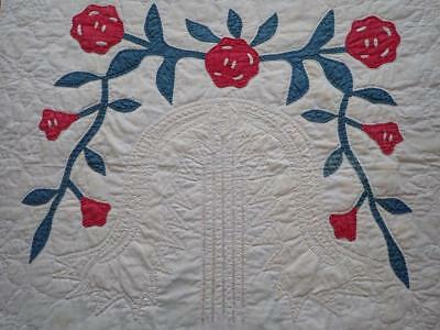 Antique Memorial Early 1800s Willow Tree Applique Quilt Pc 25 1 4