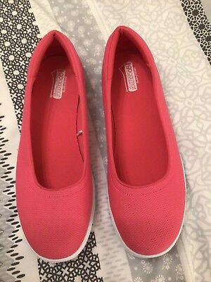 367c30157a80 Skechers GO Step Luxe Slip On Ballet Pump With Goga Mat Pink Uk 7 Euro 40