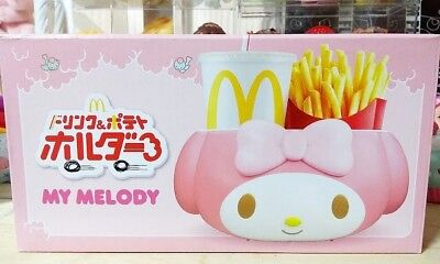 Sanrio My melody McDonalds Drink French Fry Holder Japan Exclusive RARE F/S