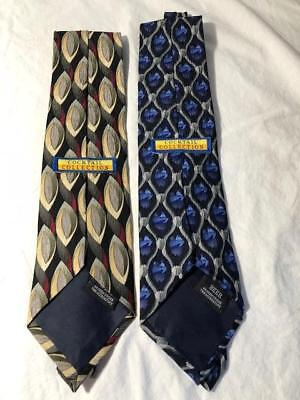 """Cocktail Collection By Stonehenge Lot of 2 Wine & Beer Silk Neck Tie 3.5"""""""