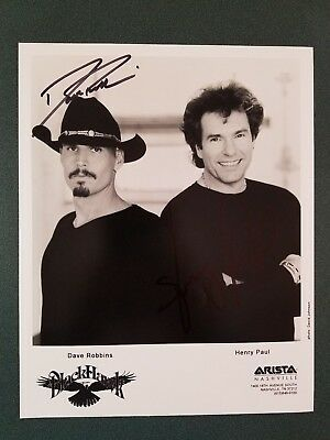 Blackhawk signed 8x10 photo-Dave Robbins/Henry Paul - COA