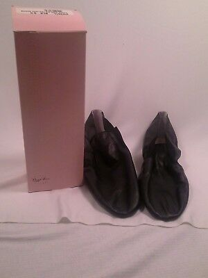Dance Now s/s leather Lea Jazz booties in black size 9.5 NEW