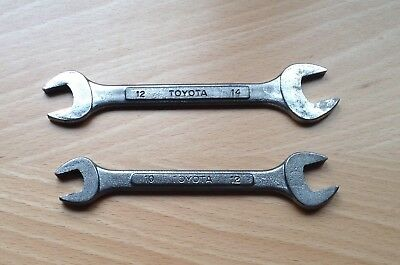 TOYOTA - Pair tool kit open end Metric Spanners. 10mm x 12mm  &  12mm x 14mm