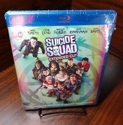 Suicide Squad Extended Cut (Blu-ray Disc)NEW(Sealed)-Free Shipping with Tracking