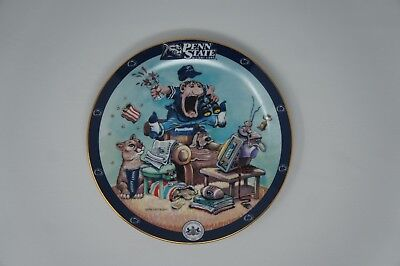 DANBURY MINT Penn State Nittany Lions Fan Collectible Plate Gary Patterson