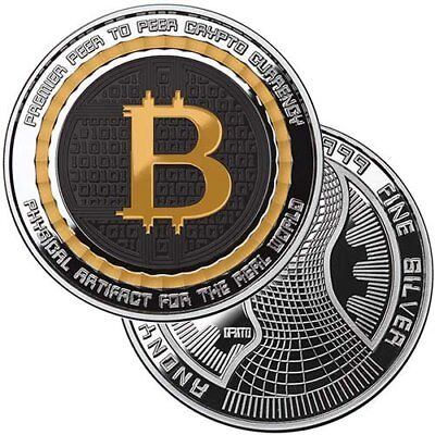 Bitcoin Guardian Commemorative 1 oz Silver Colorized Proof Round w/CoA