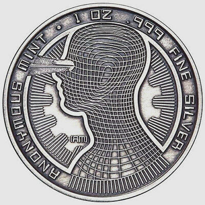 Bitcoin Guardian 1oz  Antique Commemorative Silver Round w/CoA
