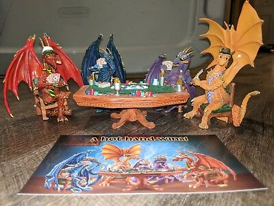 Poker Dragons Hold Em' Or Fold 'Em Collection figurines Hamilton Collection