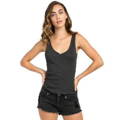 4e96a5db5b RVCA NEW BLACK Women's Size Medium M Snap Ribbed Upward Body Suit ...