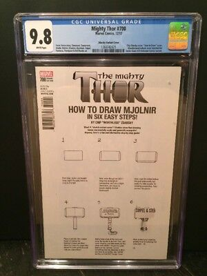 Mighty Thor #700 Zdarsky 'How To Draw'  ERROR Variant CGC 9.8