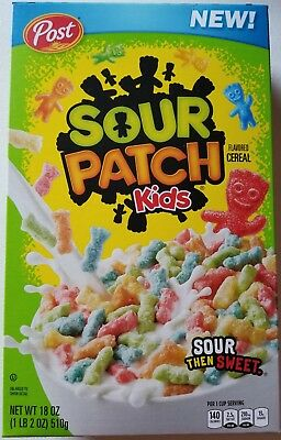 New Post Sour Patch Kids Flavored Cereal 18 Oz Free Worldwide Shipping