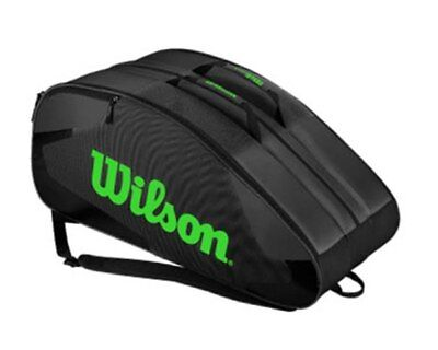 Wilson Tour Racketbag 12-er BLX black/lime