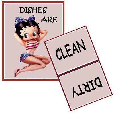 ON SALE!  BETTY BOOP  Dishwasher MAGNET (Clean/Dirty)  30% Off of Regular Price!