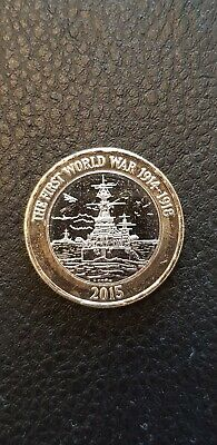 Rare 2015 Royal Navy WW1 HMS Belfast £2 Coin From sealed bag FREE POST