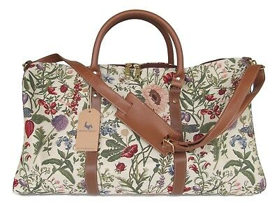 Morning Garden Floral  Tapestry Travel Gym or Overnight bag w Shoulder Strap