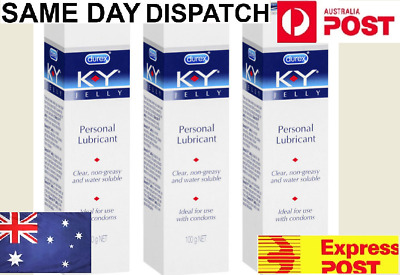 Durex KY Jelly Personal Lubricant 100g x 3 BULK Deal Non-greasy Safe Sex Lube