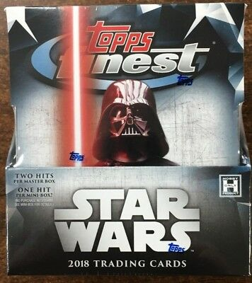 2018 Topps Star Wars Finest Factory Sealed Hobby Box