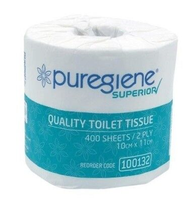 Puregiene® Superior Quality 2 Ply 400 Sheet Toilet Tissue (Ctn 48) Csw