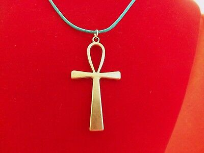 ANKH NECKLACE Ancient EGYPT Pendant Art Turquoise NEW HANDMADE Ships FREE to USA