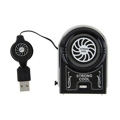 Mini Vacuum USB Cooler Air Extracting Cooling Fan Pad for Notebook Laptop IZ