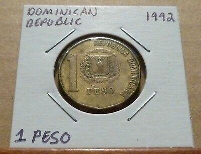 1 PESO COIN - 1992 - Dominican Republic