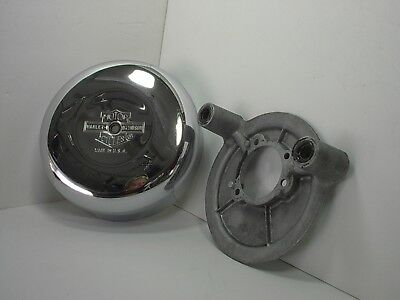 Harley Davidson Chrome Round Air Cleaner Cover Classic Bar & Shield ~ 8 inch