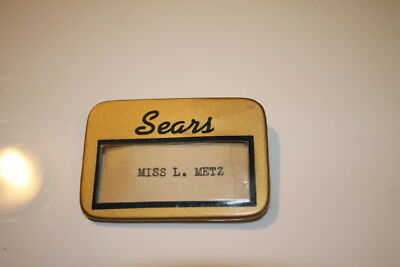 Sears employee name badge by White & Hoag pat. Oct 1929 New Jersey Chicago Ill.!