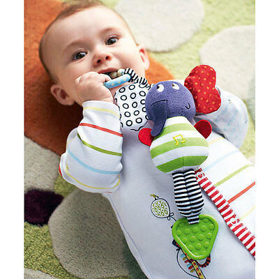 Cartoon Music Elephant Bed Safety Seat Infant Bell Soft Plush Stroller Doll Toys