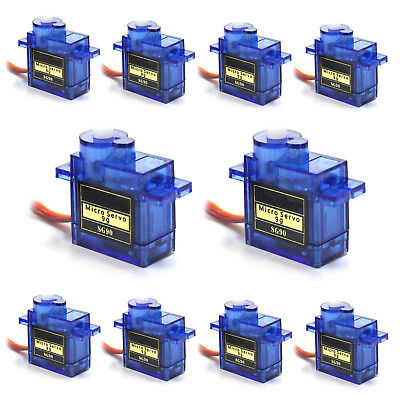 10Pcs 9G SG90 Mini Micro Servo For RC Robot Helicopter Airplane Car Boat LN
