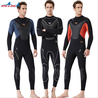 Men s Scuba Diving Suit Neoprene 3mm SCR Spearfishing Wetsuit Long Warm  Surfsuit 80f954612
