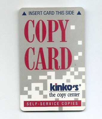 USA CHARGE STORED VALUE CARD - KINKO's Copies -- USED / NO VALUE