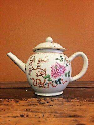 Famille Rose Porcelain Teapot; Chinese Export to Europe c1760 Quanlong Period