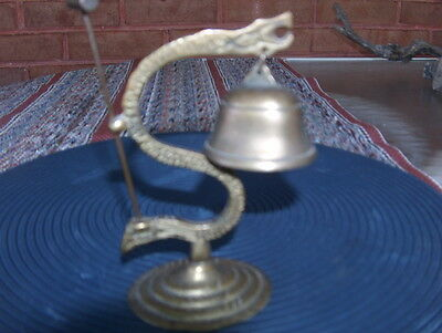 Vintage Brass Chinese Dragon Gong With Striker Stick
