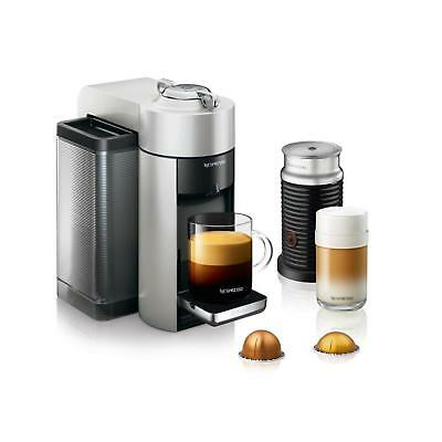Nespresso Vertuo Single Serve Coffee and Espresso Machine with Aeroccino Silver