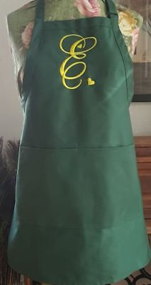 Aprons, Monogramming, Touch of Love Letter, BBQ, Chef, Work, Embroidered  Apron