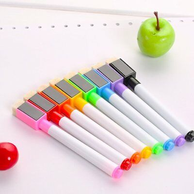 8PCS Colored Erasable Fine Tip Whiteboard Marker Pen for Kids Graffiti PaintiZS