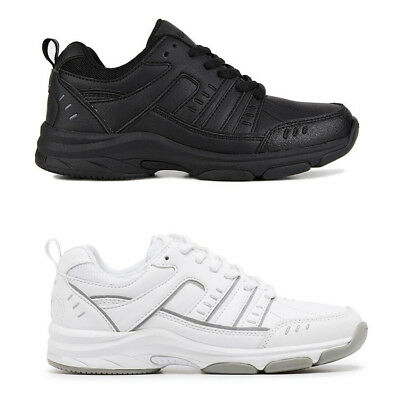 Unisex Children Clarks Kids Axel Boys Black White School Runners Lace Up Shoes