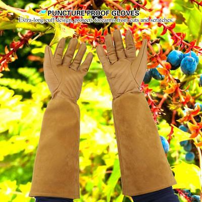 Long Leather Rose Gardening Gloves Women Thorn Proof Hand Pruning Trimming Glove