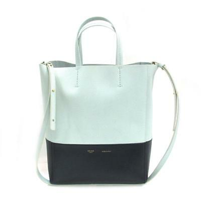b649d7ac9fa1 CELINE Vertical Cabas Small Shoulder Bag 176163 leather Light green x Green