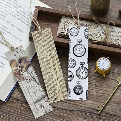 30pcs Retro Bookmark Book Mark Magazine Note Pad Label Memo Stationery Gifts New