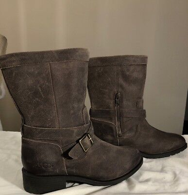 bc6d7bdec0a UGG GLENDALE DOVE Waterproof Boots 8.5 New (Distressed Leather Style)  Authentic