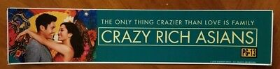 CRAZY RICH ASIANS 2018 - Movie Theater Mylar - FREE SHIPPING