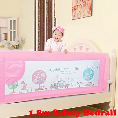 Swing Down Baby Bedrail Safety Child Toddler Bed Rail Cot Guard Protection 180cm