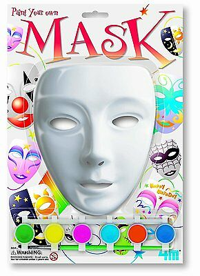 Paint a Mask - Paint Your Own Mask 4M Games Educational Ideas Gift
