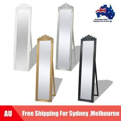 Free Standing Mirror Baroque 160x40cm Full Length Dressing 4 Colours AU C2A6