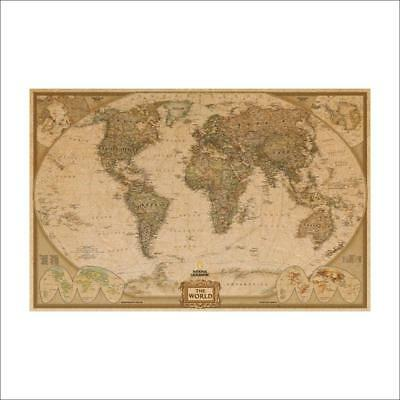 Vintage Globe Old World Map Antique Paper Poster Wall Home Decor 72*47CM Print